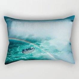 Niagara Falls Rainbow Rectangular Pillow