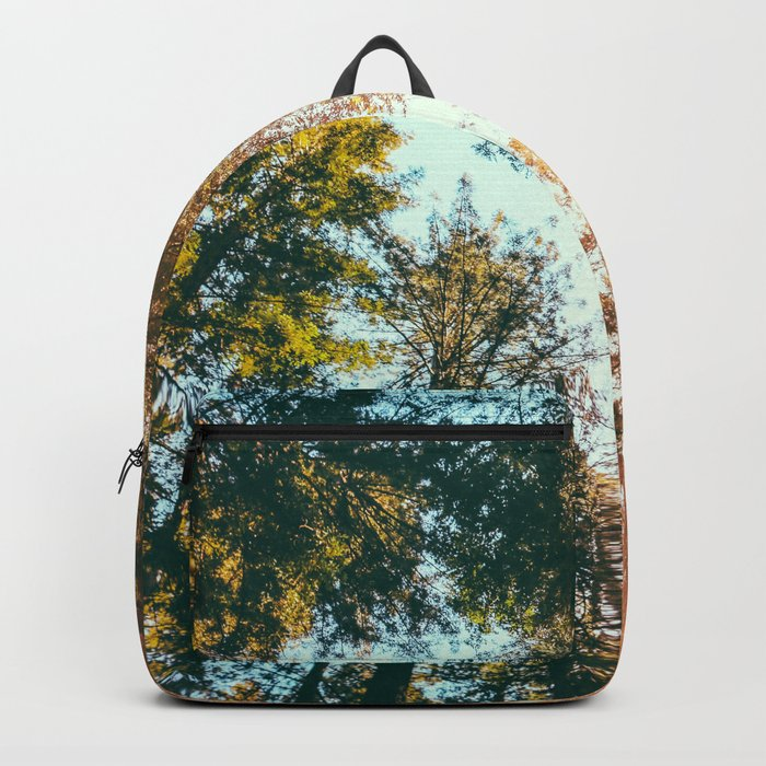 California Redwoods Sun-rays and Sky Backpack