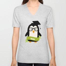 Penguin nerd from Bern T-Shirt for all Ages Unisex V-Neck