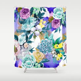 Floral Patterns in Contemporary Designs and Colors Shower Curtain
