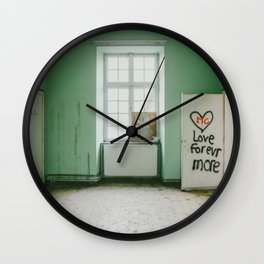 Love forever more Wall Clock
