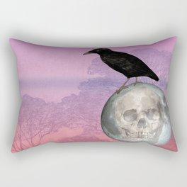 'Sit on my finger, sing in my ear, O littleblood.' Rectangular Pillow