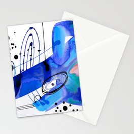 Abstract Serenade 4d by Kathy Morton Stanion Stationery Cards