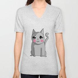 Cat with the Sad Eyes Unisex V-Neck