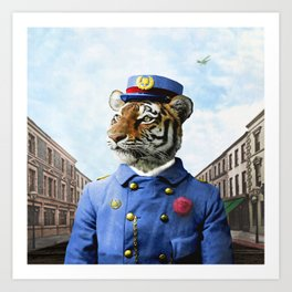 Postmaster Trenton Tigre on his Appointed Rounds Art Print