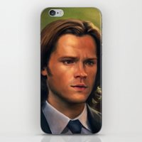 sam winchester iPhone & iPod Skins featuring Sam Winchester from Supernatural by Annike