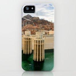 Hoover Dam & Mike O'Callaghan - Pat Tillman Memorial Bridge, Arizona iPhone Case