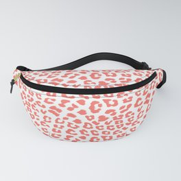 Living Coral Leopard Animal Print Fanny Pack