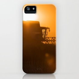 Midsummer time is harvest time of the cereal fields iPhone Case