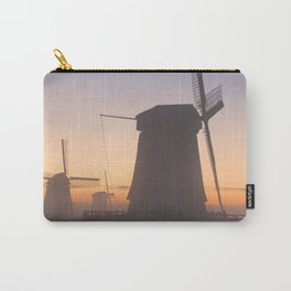 I - Traditional Dutch windmills in winter at sunrise Carry-All Pouch