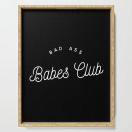 BAD ASS BABES CLUB B&W Serving Tray