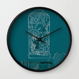 Japanese Emperors Vase Wall Clock