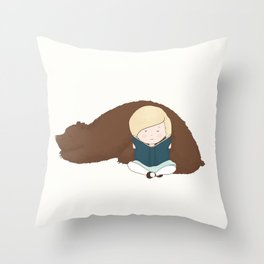 Louis and Lucy Throw Pillow