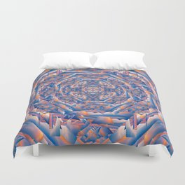 Carnival Fun House Mirror Fractured Duvet Cover