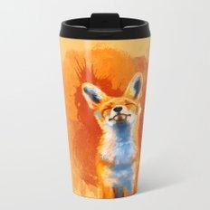 Happy Fox Metal Travel Mug