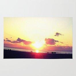 The Sun Also Rises Morning sun Beach Sea Rug