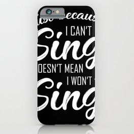 Karaoke Music Box Singer Microphone Gift iPhone Case