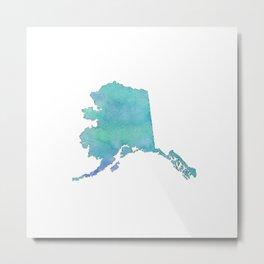 Watercolor Alaska Metal Print