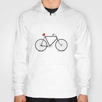 bikes Hoodies featuring I ♥ BIKES by Nucky
