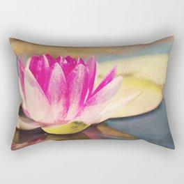 Quiet: A Pink Lily Pad  Rectangular Pillow