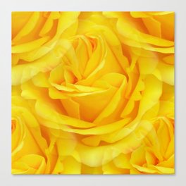 Modern Abstract Seamless Yellow Rose Petals Canvas Print