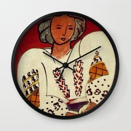 La Blouse Roumaine (Romanian Blouse) by Henri Matisse Wall Clock