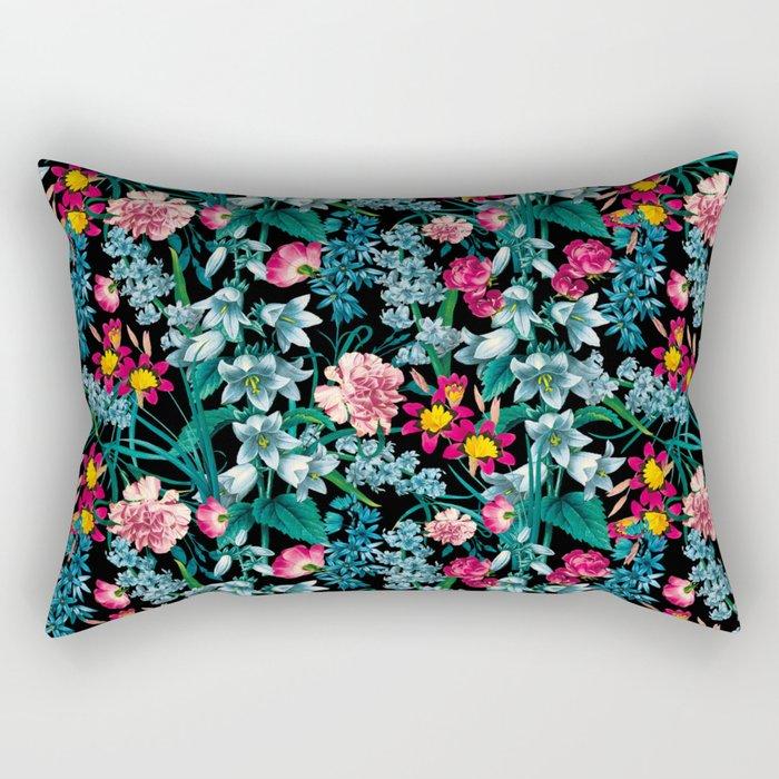 Botanic Floral Pattern Rectangular Pillow