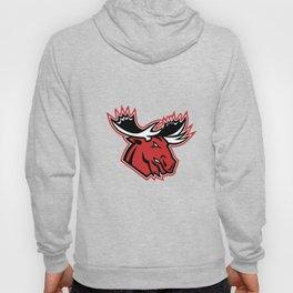 Angry Moose Head Side Mascot Hoody