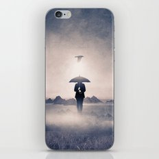 Waiting for the rain (colour option) iPhone Skin