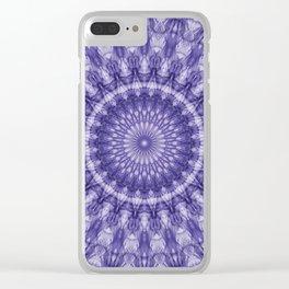 Delicate plum mandala Clear iPhone Case