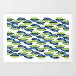 Botanical pattern #buyart Art Print