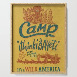 It's a Wild America – Camp Yeti Poster Serving Tray