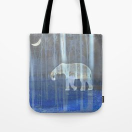 Moonlight with elephant Tote Bag