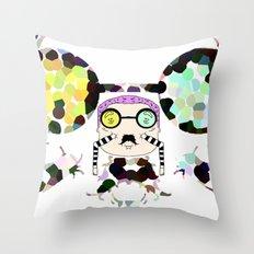 Monsieur Steams Throw Pillow