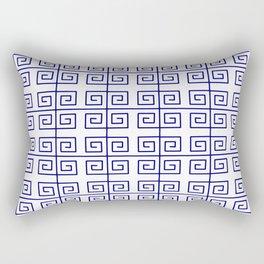 Frieze 2 blue Rectangular Pillow