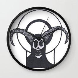 Sacred Horned Skull Wall Clock