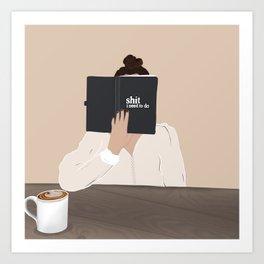 GIRL ILLUSTRATION  Art Print