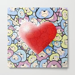 Catty Heart Metal Print