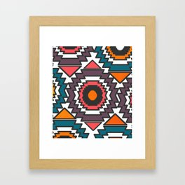 Colorful forms Framed Art Print
