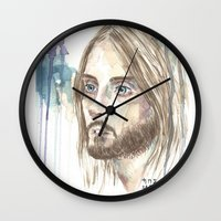 jared leto Wall Clocks featuring Leto by SirScm