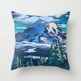 Rainier Summer Throw Pillow