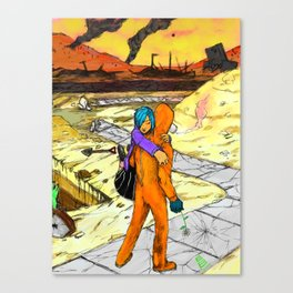 Post Apocalyptic Love Story Canvas Print