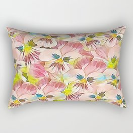 Abundance Of Pink Pansies Rectangular Pillow