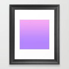 PINK PURPLE FADE Framed Art Print