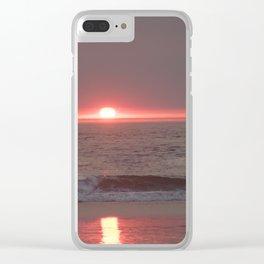 sun sleeping in the sea Clear iPhone Case