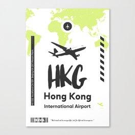 HKG HONG KONG airport Canvas Print