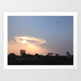 Terminal halo cloud Art Print