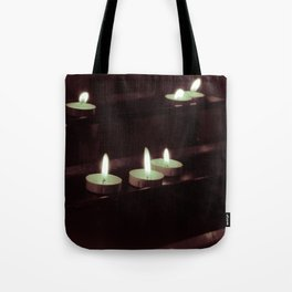 split toning candels Tote Bag