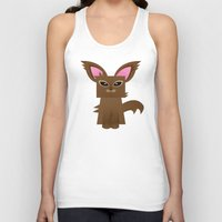 furry Tank Tops featuring Furry Kitty by Yay Paul