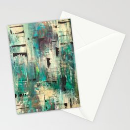 """SINGING IN THE RAIN"" Original Painting by Cyd Rust Stationery Cards"